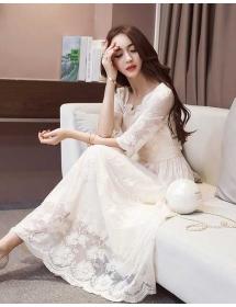 long dress korea D3927