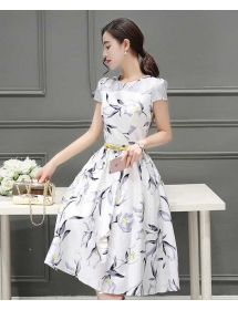 midi dress korea D3941