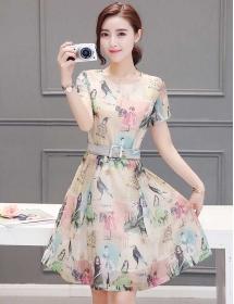 dress korea D3942
