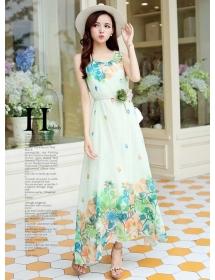 long dress chiffon D3944