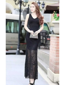 long dress brukat D3950