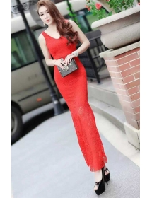 long dress brukat D3951