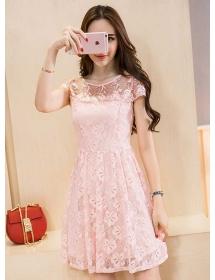 dress brukat korea D3957