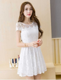 dress brukat korea D3958