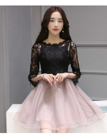 dress brukat korea D3960