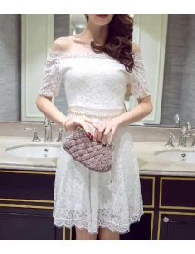 dress brukat import D3964