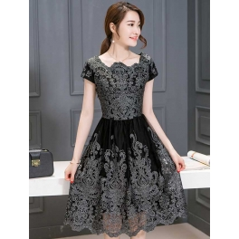 Gaun Pesta Korea D3967 Moro Fashion