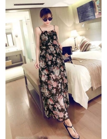 long dress chiffon D3968