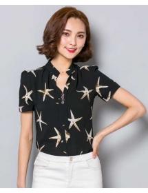 blouse chiffon import T3617