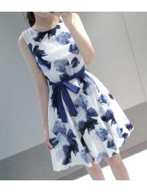 dress wanita import D4007
