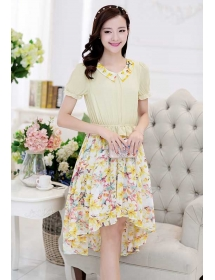 dress motif bunga D4044