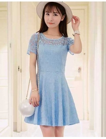 dress brukat D4052