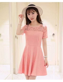 dress brukat D4053