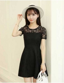 dress brukat D4055