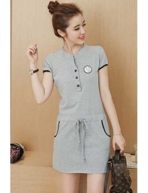 dress wanita import D4056
