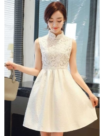 dress pesta korea D4071