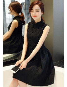 dress pesta korea D4072