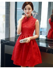 dress pesta korea D4073