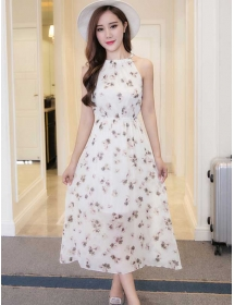 long dress chiffon D4077