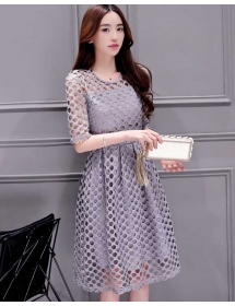 dress brukat korea D4088