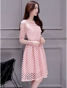dress brukat korea D4089