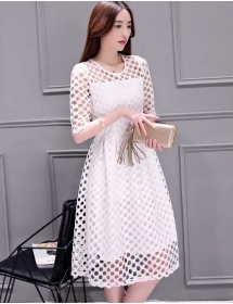 dress brukat korea D4092
