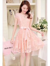 dress brukat D4099