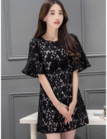 dress brukat korea D4105