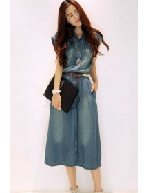 midi dress denim D4117