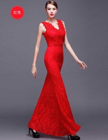 long dress brukat D4118
