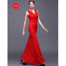 long dress brukat D4118