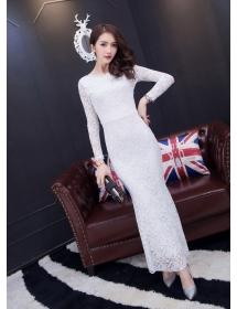 long dress brukat D4168