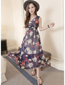 long dress chiffon D4174
