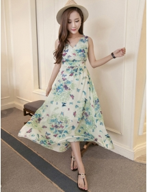 long dress chiffon D4175