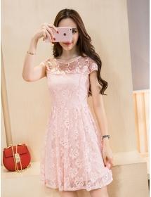 dress brukat korea D4181