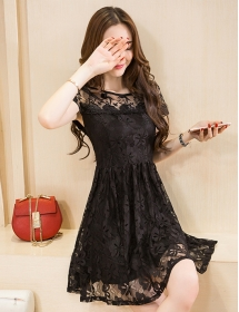 dress brukat korea D4182
