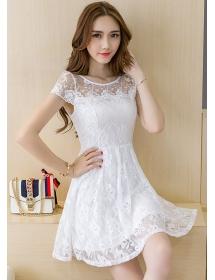 dress brukat korea D4183