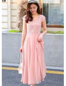 long dress chiffon D4205