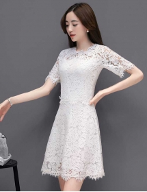 dress brukat korea D4213