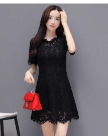 dress brukat korea D4214
