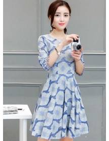 dress brukat korea D4221