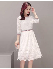 dress brukat korea D4223
