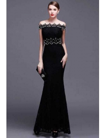 long dress brukat D4224