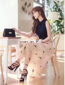 long dress korea D4227