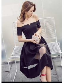 dress pesta korea D4237
