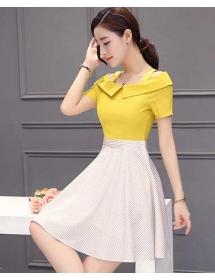 dress wanita korea D4240