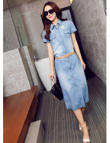 midi dress denim D4250