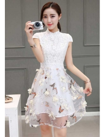 dress pesta korea D4251
