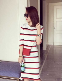 dress rajut import D4259