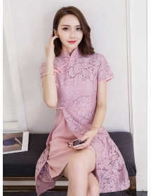 dress brukat korea D4264